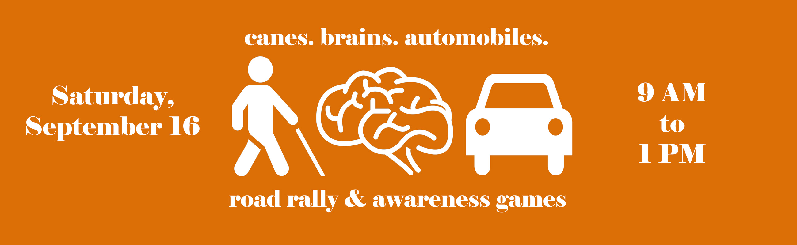 Canes Brains and Automobiles Road Rally and Awareness Games