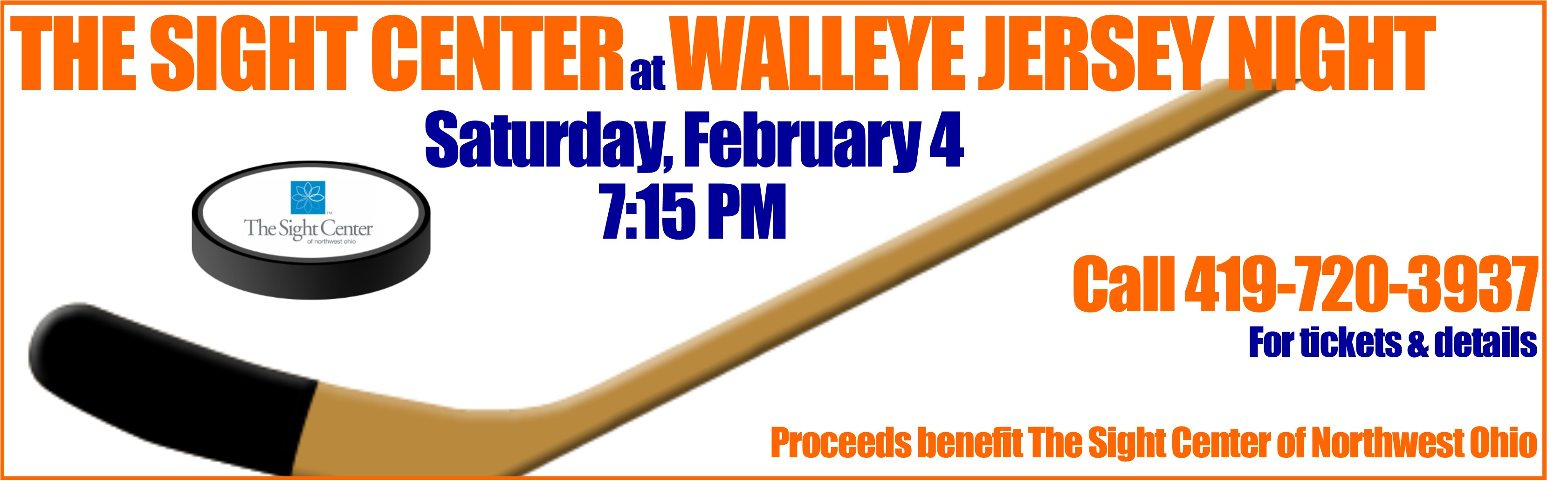 Walleye Jersey Night Fundraiser - Saturday, February 4