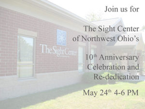 The Sight Center 10th Anniversary