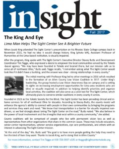 Cover image for Fall 2017 issue of Insight, the official newsletter of The Sight Center of Northwest Ohio