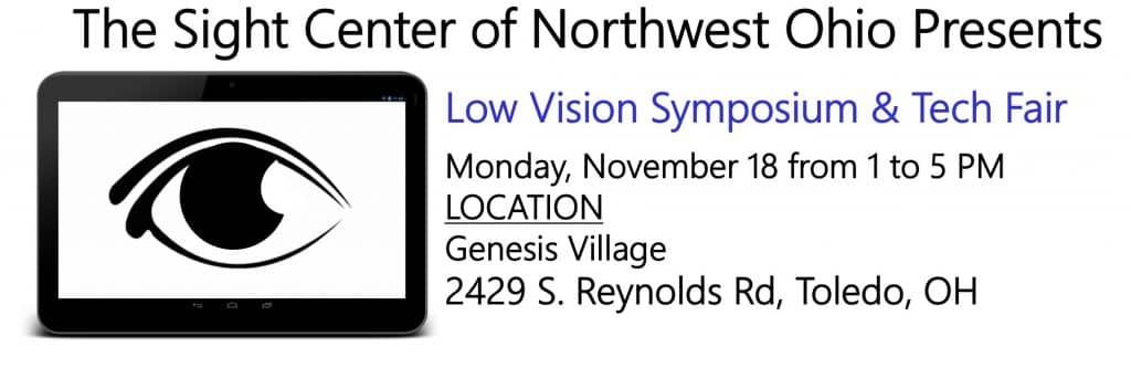 Low Vision Tech Fair , November 18 at Genesis Village