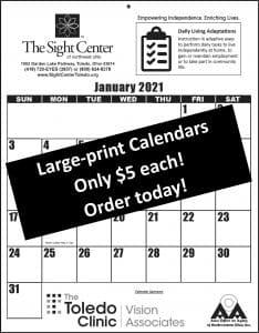 2021 Large-Print Calendar Image